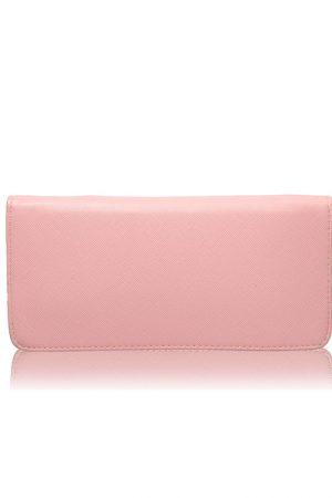 Pink Color Zip Clutch
