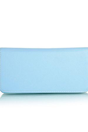 Blue Color Zip Clutch