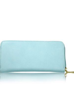 Light Blue Color Zip Clutch