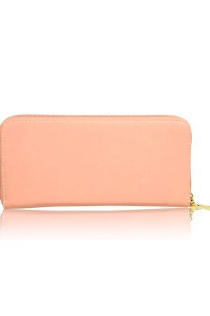 Peach Color Zip Clutch