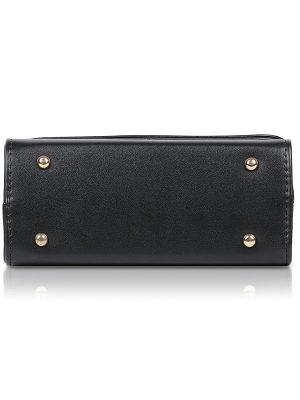 Black & Red Color Push Button Sling Bag