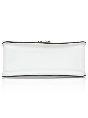 White & Pink Color Turn Lock Sling Bag