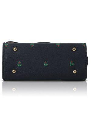 Blue Color Push Button Sling Bag