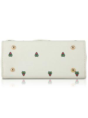 White Color Push Button Sling Bag