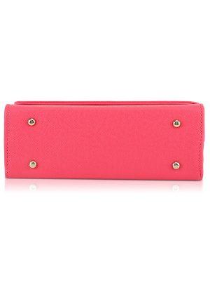 Pink Color Push Button Sling Bag