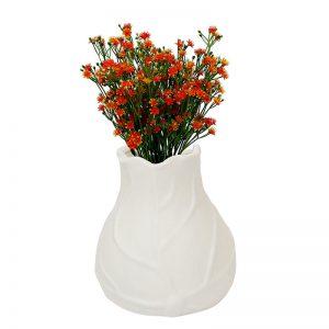 White Ceramic Flower Vase for Home