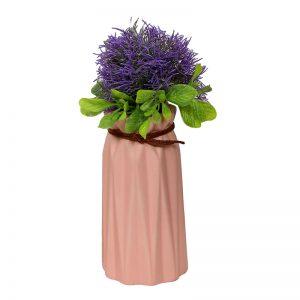 Knotted Head Peach Ceramic Flower Vase