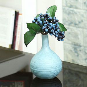 Traditional Design Aqua Ceramic Flower Vase