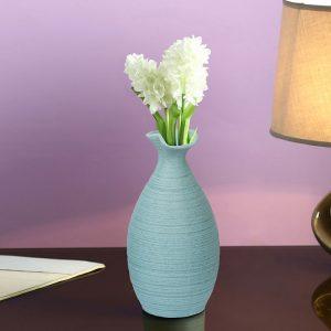 Handcrafted Aqua Ceramic Beautiful Flower Vase