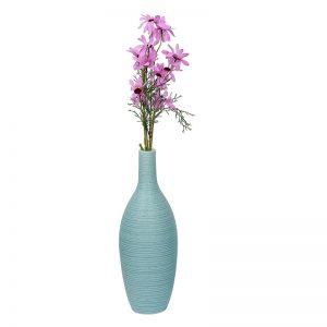 Beautiful Bottle Design Aqua Ceramic Vase