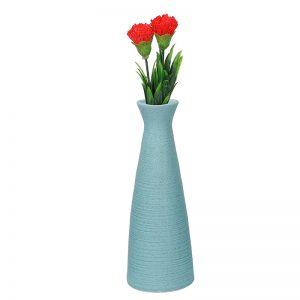 Conventional Jar styled Aqua Ceramic Vase
