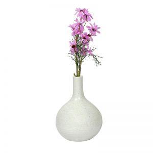 Traditional Design White Ceramic Flower Vase