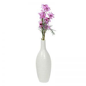 Beautiful Bottle Design White Ceramic Vase