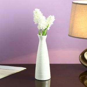 Conventional Jar styled White Ceramic Vase