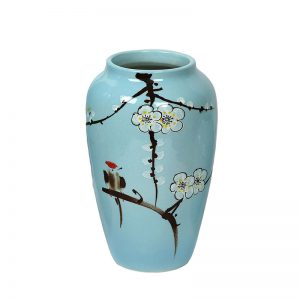 Sobre Aqua Blue Hand painted Ceramic Vase
