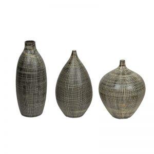 Black & White Beautiful Texture Ceramic Vase Set of 3