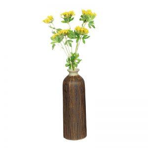 Attractive Brown Ceramic Vase