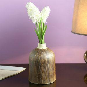 Brown Ceramic Flower Vase