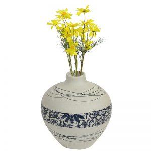 White & Blue Ceramic Vases