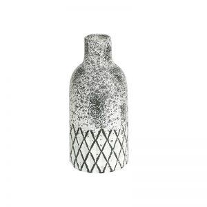 Geometrical White Ceramic Decorative Vase
