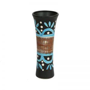 Hand Painted Textured Multicolor Ceramic Vase