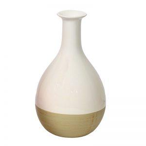 Dual Tone White Ceramic Vase