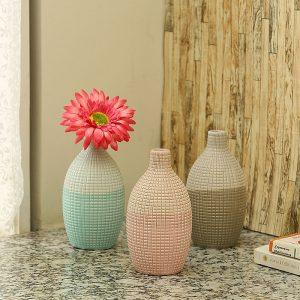 Neo Modern Dual Tone Ceramic Vase - Set of 3