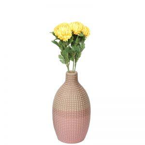 Neo Modern Dual Tone Ceramic Vase Pink and Peach