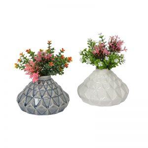 Specially Designed Blue Ceramic Vase - Set of 2