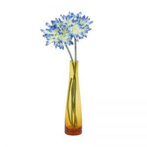 Stylish Transparent Orange Vase