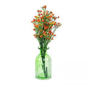 Unique Retro Design Green Transparent Vase