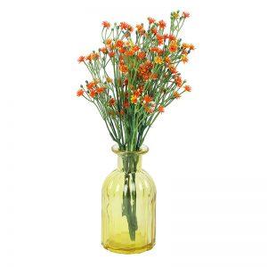 Unique Retro Design Yellow Transparent Vase