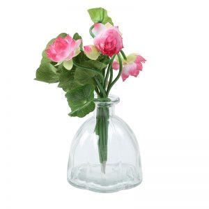 Oval Jar styled Transparent Grey Vase