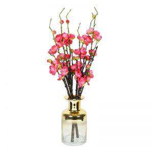 Delicate Gold Polish Table Vase in Glass