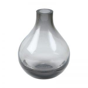 Hand Blown Glass Vase in Grey