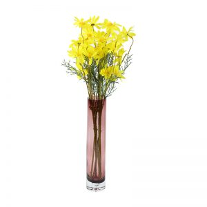 Wine Colored Cylindrical Vase