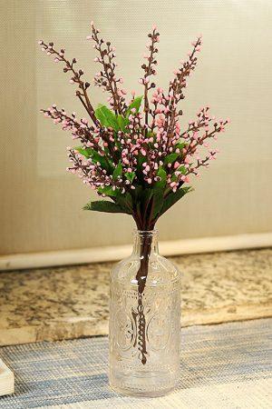 Solid Crystal Glass Bottle Shaped Transparent Vase
