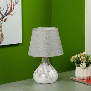 Marble Finish Bottle Style Ceramic Table Lamp