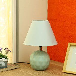 Round Ceramic Green Colour Table Lamp