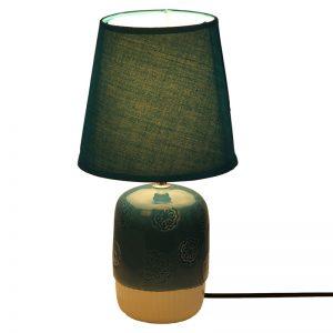 Embossed Blue White Ceramic Table Lamp