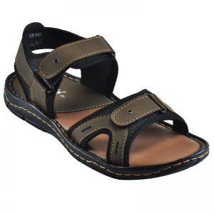 Men's Grey Colour Synthetic Leather Sandals