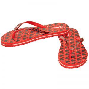 Women's Red & Black Colour EVA Flip Flops