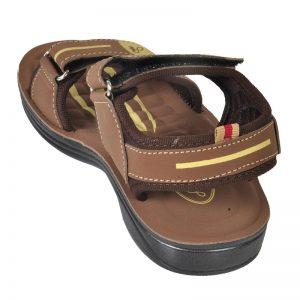 Kid's Brown Colour PU Sandals