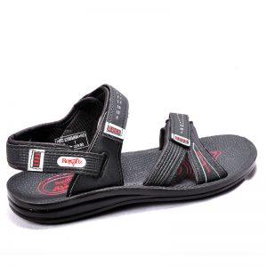 Men's Black Colour PU Sandals