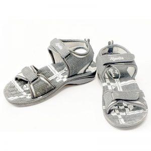 Men's Grey Colour Synthetic Sandals