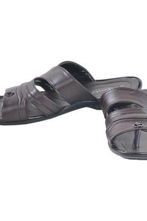 Men's Black Colour Leather Sandals