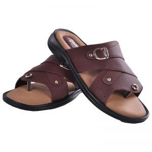 Men's Brown & Beige Colour Leather Sandals