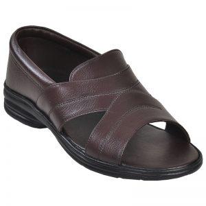 Men's Brown Colour Leather Peshawari Sandals