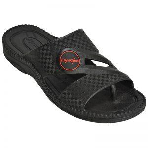 Men's Black Colour Rubber Sandals