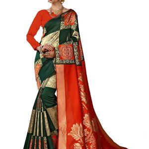 Green Colour Designer Art Silk Raison Saree